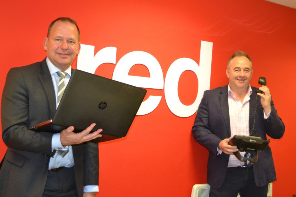 Rob Lister, Director of Lister Unified Communications (right) and Simon Penn, Director of Red Recruitment.