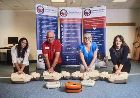 Melton Group – staff going through their training with Heartstart (Melanie Baker is second right)