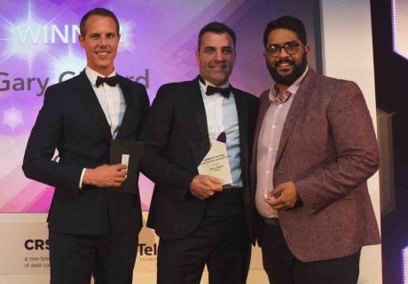 SIGMA Tom Somerville from the award sponsors, Gary Gilburd and comedian Eshaan Akbar