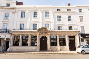 Bar + Block opened by Whitbread owners of Premier Inn chain, in former Barclays Bank building in Leamington Spa