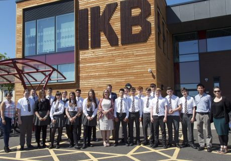 IKB Academy in Bristol involved in the Adopt a School construction skills programme