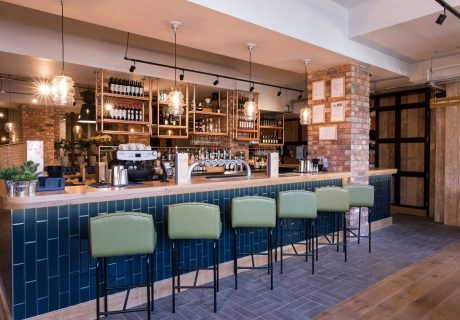Bar + Block opened by Whitbread, owners of Premier Inn chain, in former Barclays Bank building in Leamington Spa