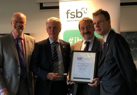Gloucester City Council honoured at the Federation of Small Businesses Local Authority Awards held at Gloucester Rugby