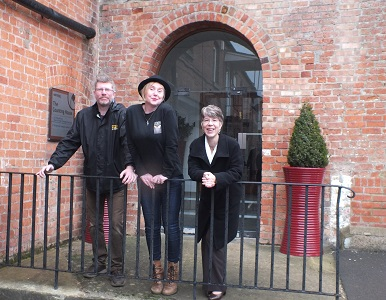Helen Hawke from Robert Hitchins (right) with Marie and Chris Stimson-Machers at Bond's Mill