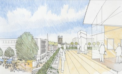 Proposed design for King's Quarter in Gloucester