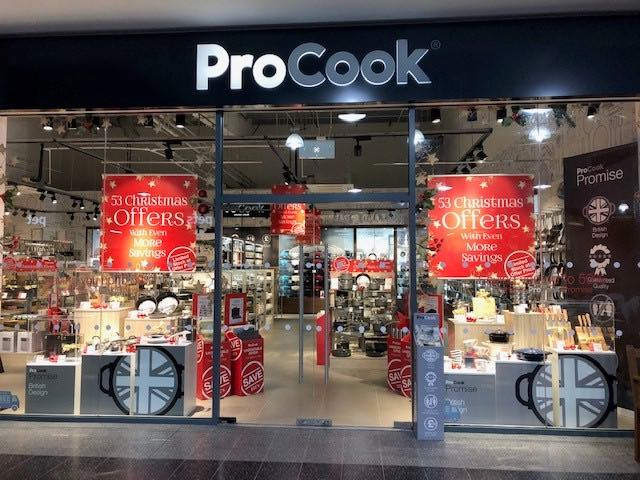 ProCook Chesterfield store Christmas 2018