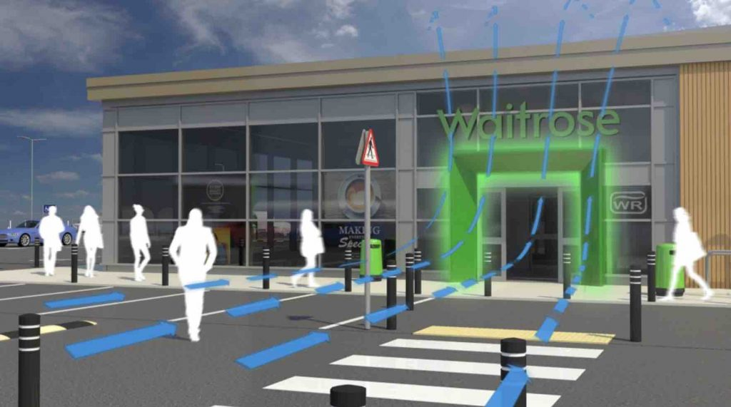 Waitrose invisble door