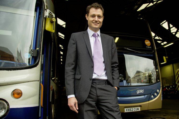 Rupert Cox, Managing Director of Stagecoach West
