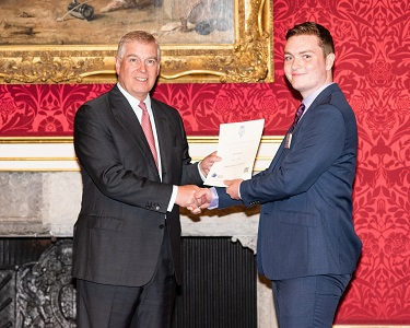 Prince Andrew and Luke Collins