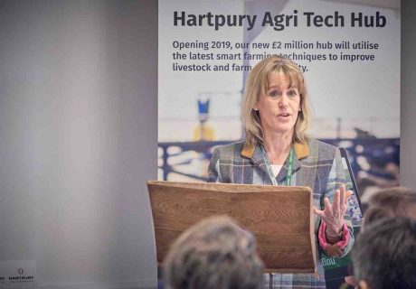 NFU President Minette Batters at the official opening of the Hartpury Agri-Tech Centre