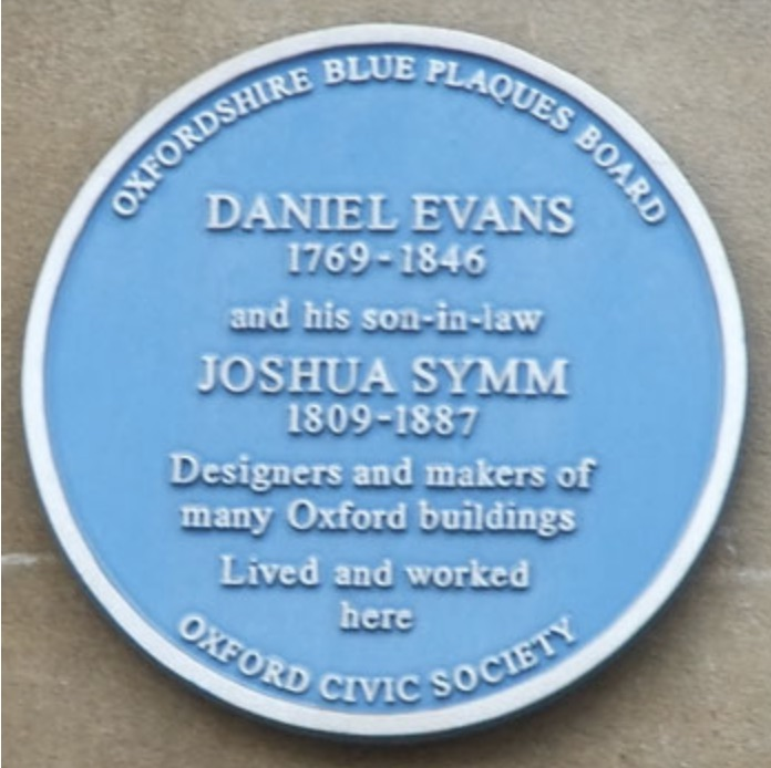 Symm blue plaque