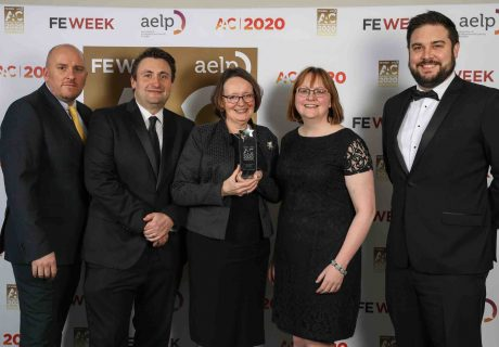 AAC Awards 2020 (l-r) Mark French Gavin Maitland-Smith Di Batchelor Jacqui Canton and Ed Collett