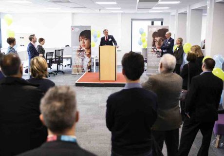 Entrepreneur in Residence, Jim Gabriel, addresses business leaders gathered at the launch of The Bucks Health Tech Hub[4]