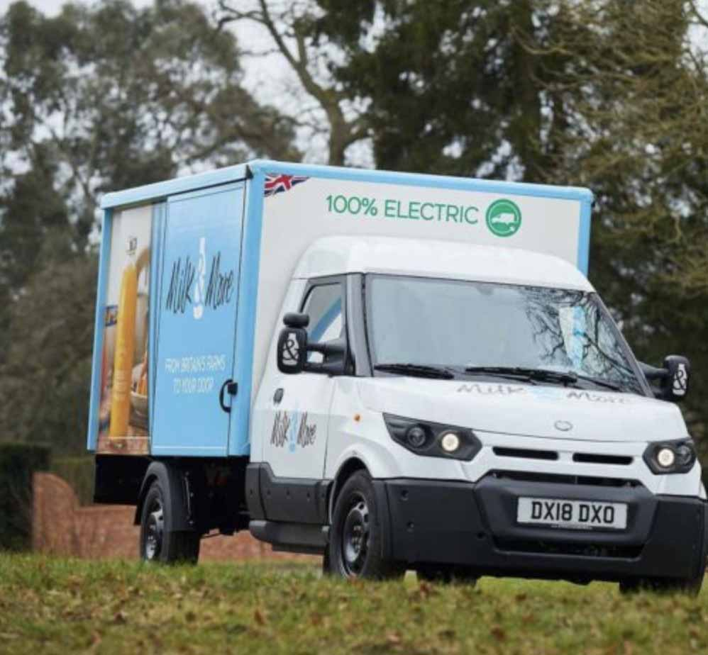 EVIEs Elmtronic Milk & More Electric Vehicle