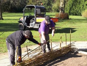 Howbery herb_garden_willow_fence_building