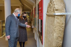 Low Res His Royal Highness in the Roman galleries and the Bodicacia tombstone