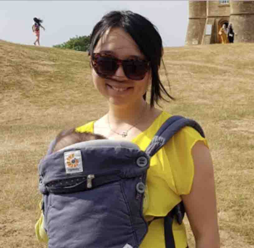 Dr. Chen Mao Davies with baby