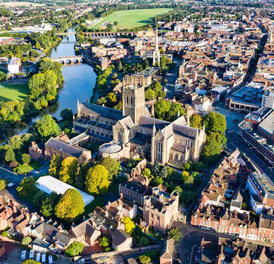 Worcester aerial photo