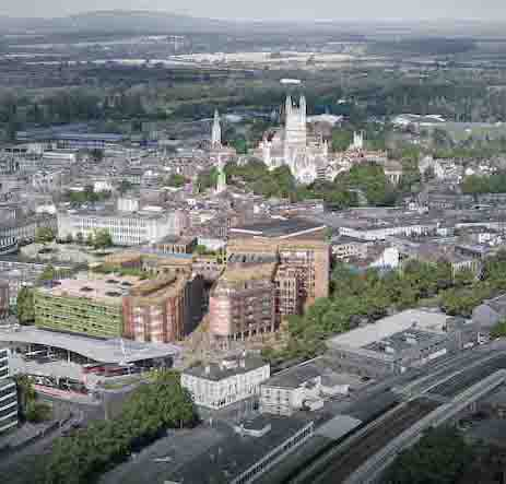 Gloucester The Forum Phase Two – aerial visual