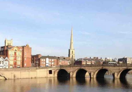 Worcester City from River