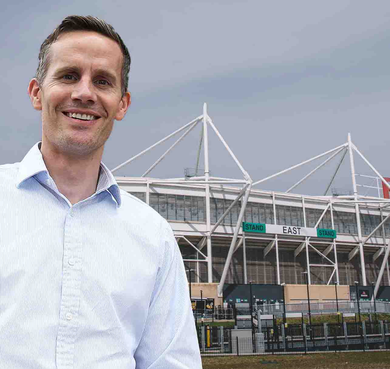 Gloucester Rugby Chief Commercial Officer Adam Benson Pic by Martin Bennett