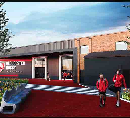 Gloucester Rugby new training facilities CGI
