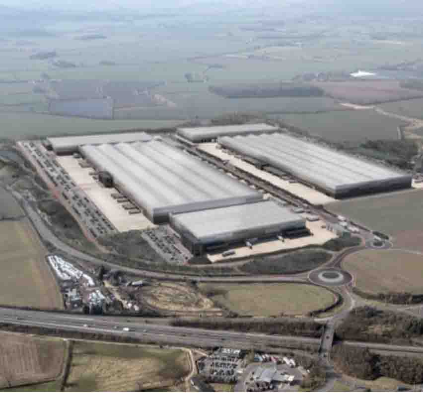 Jaguar Land Rover warehouse in Leicestershire CGI