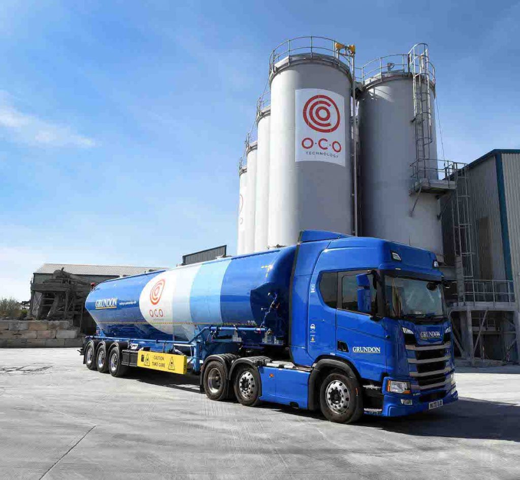 O.C.O Technology's new tanker is pictured outside its Avonmouth facility
