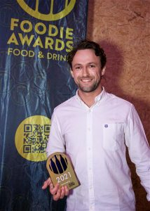 Tobias Reutt of Earlsdon Supper Club with his Chef of the Year award