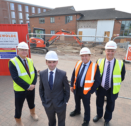 Greswolde Construction Malcolm Priest, William Senior, Perry Stewart and Shaun Walsh