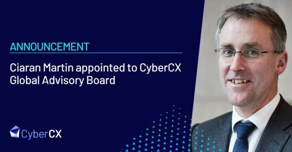 CyberCX appoints former head of UK National Cyber Security Centre Ciaran Martin to Global Advisory Board