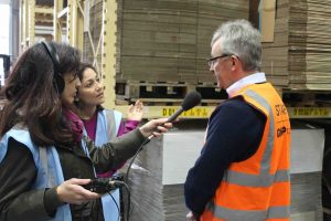 GWP Packaging David Pedley with TV crew