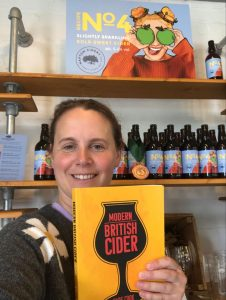 Napton Cider Charlotte Olivier with the book