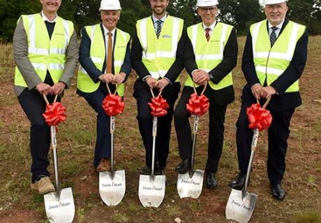 Stoford ZwickRoell breaking ground pic Sep 2021