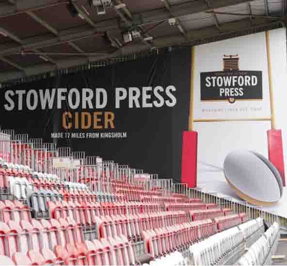 Westons Cider Stowford Press Gloucester Rugby