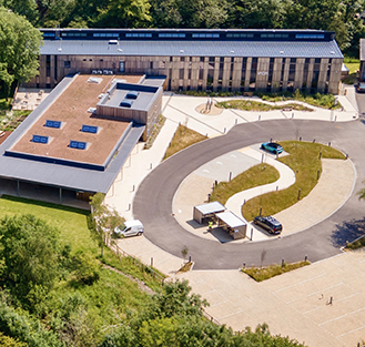 Wood Centre for Innovation aerial view